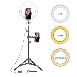 "10"" Led Ring Light with Tripod for Smartphone - Ring Light"