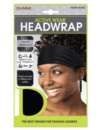 Donna Active Wear Headwap Black