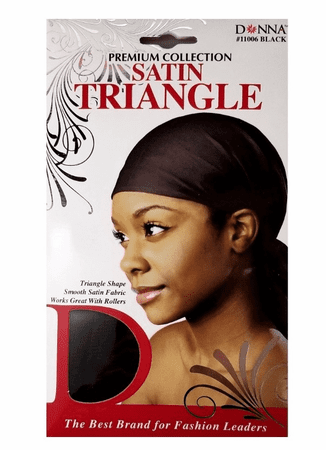 DONNA SATIN TRIANGLE BLACK - Melanin Beauty Suppliers