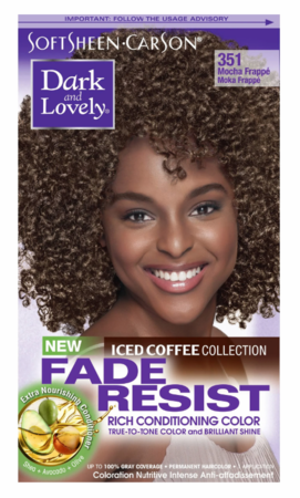 Dark and Lovely Fade Resist Hair Color Mocha Frappe 351 - Melanin Beauty Suppliers