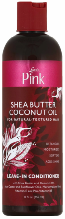 Pink Leave-In Conditioner Shea Butter Coconut Oil 12 fl oz - Melanin Beauty Suppliers