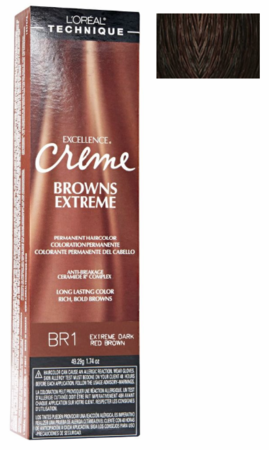 L'Oreal Excellence Creme Browns Extreme BR1 Extra Dark Red Brown