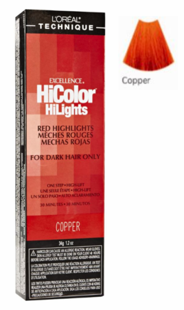 L'Oreal Excellence HiColor Red HiLights Permanent Hair Color Copper 1.2 oz - Melanin Beauty Suppliers