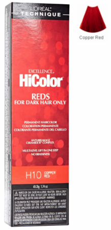 L'Oreal Excellence HiColor Reds For Dark Hair Only H10 Copper Red - Melanin Beauty Suppliers