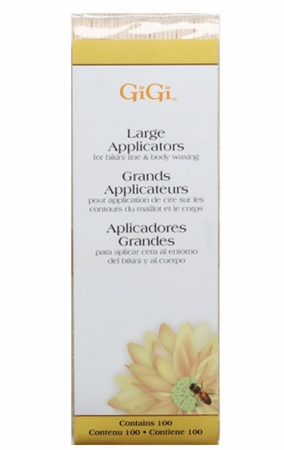 Gigi Large Applicators For Bikini Line And Body Waxing, 100 Pack