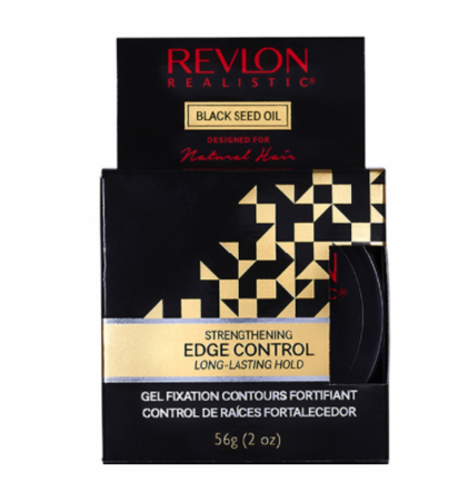 Revlon Black Seed Oil Strengthening Edge Control 2 oz jar - Melanin Beauty Suppliers