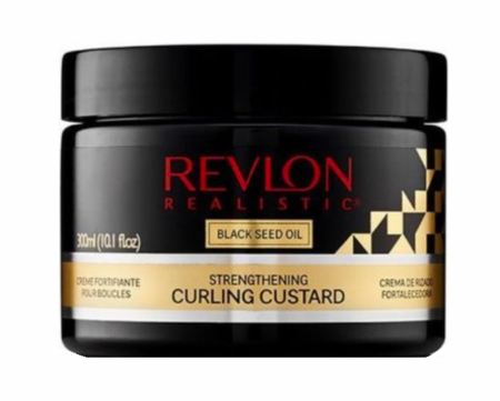 Revlon Realistic Black Seed Oil Strengthening Curling Custard 10.1oz - Melanin Beauty Suppliers