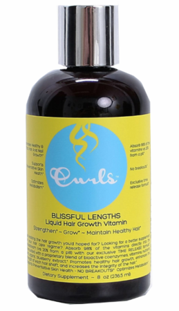 Curls Hair Growth Vitamin Liquid Blissful Lengths 8 oz - Melanin Beauty Suppliers