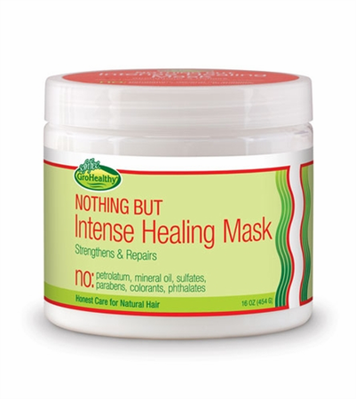 Gro Healthy Nothing But Intense Healing Mask 16 oz - Melanin Beauty Suppliers