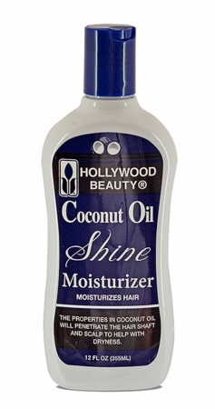 Hollywood Beauty Coconut Oil Shine Moisturizer 12 oz - Melanin Beauty Suppliers