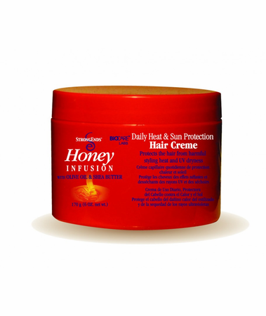 Strong Ends Honey Daily Heat & Sun Protection Hair Creme 6 oz
