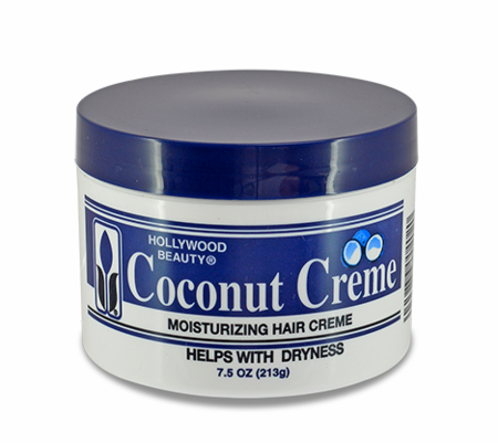 Hollywood Beauty Coconut Creme Moisturizing Hair Creme 7.5 oz - Melanin Beauty Suppliers