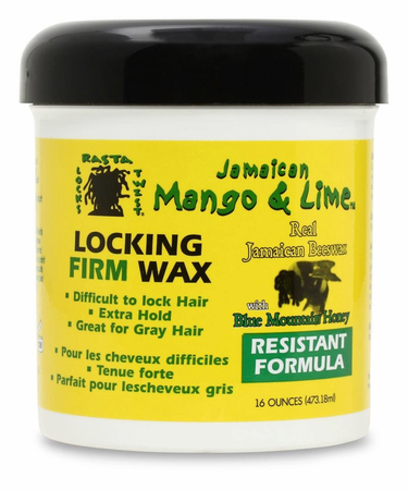Jamaican Mango & Lime Locking Firm Wax Resistant 16 oz