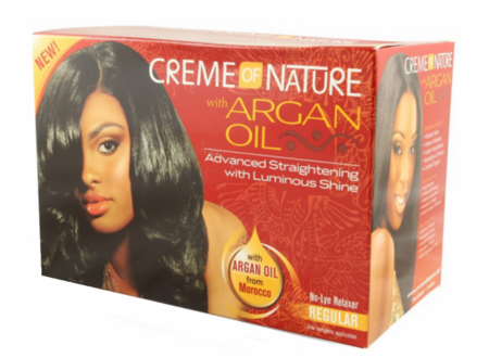 Creme of NATURE Argan Oil No Lye Relaxer Kit Regular 7.1 ozbox - Melanin Beauty Suppliers