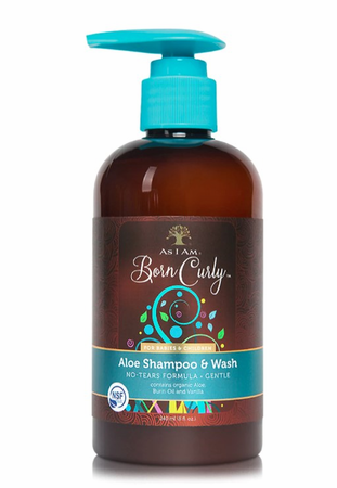 As I Am Born Curly Aloe Shampoo & Wash 8 oz - Melanin Beauty Suppliers