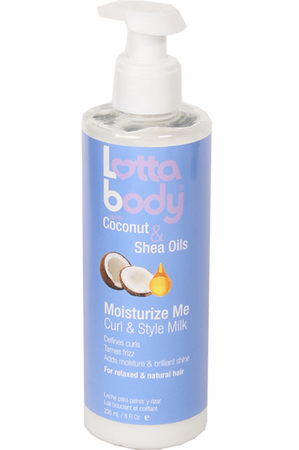Lottabody Moisturize Me Curl & Style Milk 8 oz - Melanin Beauty Suppliers