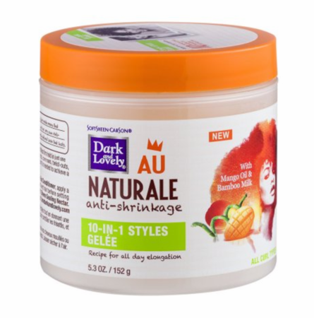 Dark and Lovely Au Naturale 10 in 1 Styles Gelee Anti Shrinkage 5.3 oz jar