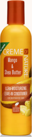 Creme of NATURE Mango & Shea Butter Ultra Moisturizing Leave-In Conditioner 8.45 oz - Melanin Beauty Suppliers