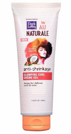 Dark and Lovely AU Naturale Anti Shrinkage Clumping Curl Creme Gel 11.05 oz