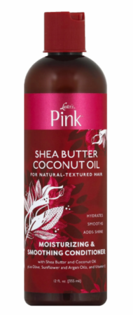 Luster's Pink Shea Butter Coconut Oil Moisturizing & Smoothing Conditioner 12 oz - Melanin Beauty Suppliers
