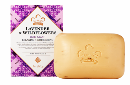 Nubian Heritage Lavender & Wildflowers Soap 5 oz - Melanin Beauty Suppliers