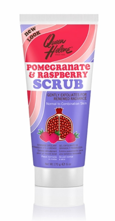 Queen Helene Pomegranate and Raspberry Natural Facial Scrub 6 oz - Melanin Beauty Suppliers