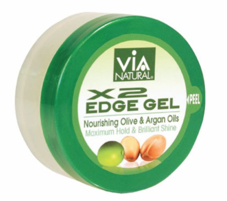 Via Natural Edge Gel X2 Maximum Hold 2 ozGreen - Melanin Beauty Suppliers