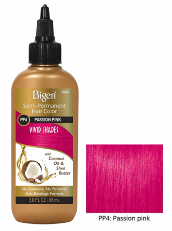 Bigen Semi Permanent Hair Color PP4 Passion Pink 3 oz - Melanin Beauty Suppliers