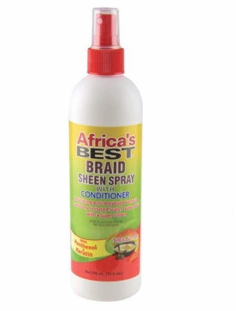 Africa's Best Braid Sheen Spray with Conditioner 12 oz - Melanin Beauty Suppliers