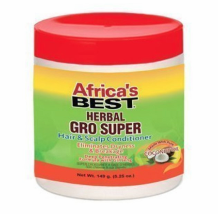 Africa's Best Herbal Gro Super Hair & Scalp Conditioner 5.25 oz - Melanin Beauty Suppliers