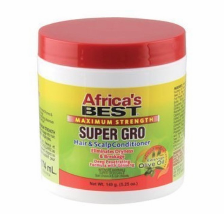 Africa's Best Maximum Strength Super Gro Hair & Scalp Conditioner 5.25 oz - Melanin Beauty Suppliers