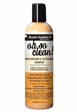 Aunt Jackie's Oh So Clean Moisturizing & Softening Shampoo 12 oz - Melanin Beauty Suppliers