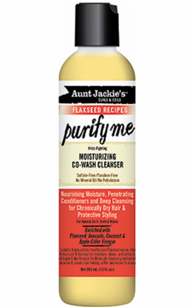 Aunt Jackie's Flaxseed Collection Purify Me Moisturizing Co Wash Cleanser 12 oz - Melanin Beauty Suppliers