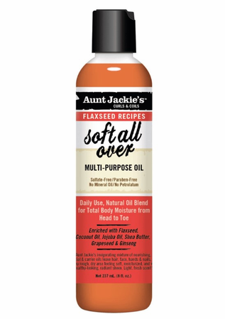 Aunt Jackie's Flaxseed Collection Soft All Over Multi Purpose Oil 8 oz - Melanin Beauty Suppliers