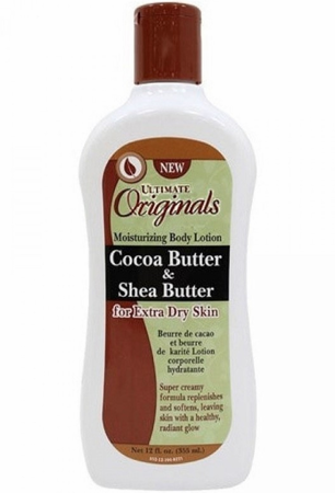 Africa's Best Ultimate Originals Therapy Cocoa Butter & Shea Butter Moisturizing Body Lotion 12 oz - Melanin Beauty Suppliers