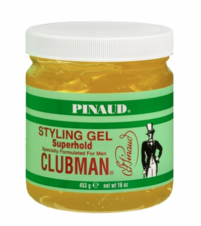 Clubman Pinaud Superhold Styling Gel, Jar 16 oz - Melanin Beauty Suppliers
