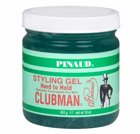 Clubman Pinaud Hard to Hold Styling Gel, Jar 16 oz - Melanin Beauty Suppliers