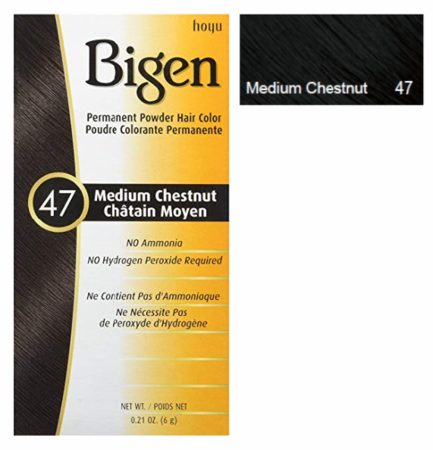 Bigen Permanent Powder Hair Color 47 Medium Chestnut 0.21 oz - Melanin Beauty Suppliers