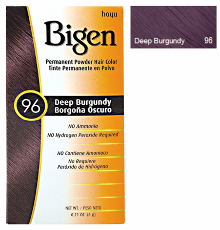Bigen Permanent Powder Hair Color 96 Deep Burgundy 0.21 oz - Melanin Beauty Suppliers