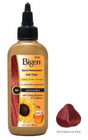 Bigen Semi Permanent Hair Color R4 Intensive Red 3 oz - Melanin Beauty Suppliers