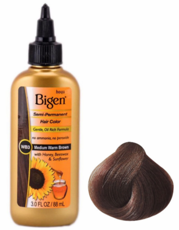 Bigen Semi Permanent Hair Color WB3 Medium Warm Brown 3 oz - Melanin Beauty Suppliers