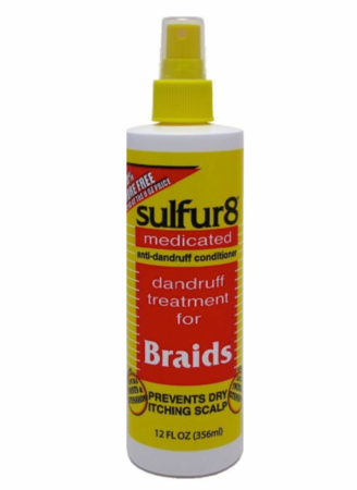 Sulfur 8 Braid Spray Medicated Treatment 12 oz - Melanin Beauty Suppliers