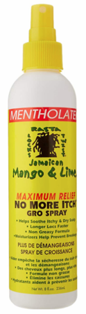 Jamaican Mango & Lime No More Itch Gro Spray Maximum Relief 8 oz - Melanin Beauty Suppliers