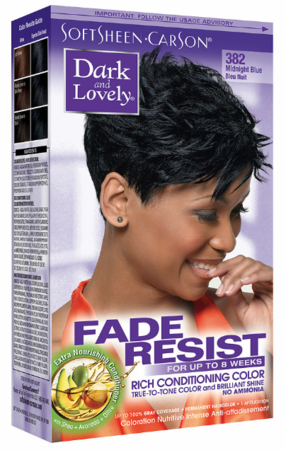 Dark and Lovely Fade Resist Hair Color Midnight Blue - Melanin Beauty Suppliers