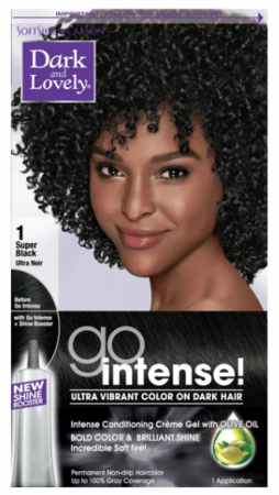 Dark and Lovely Go Intense Permanent Hair Color Super Black