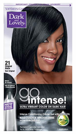 Dark and Lovely Go Intense Permanent Hair Color Original Black