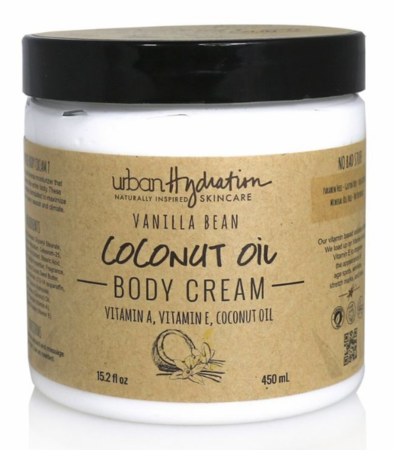 Urban Hydration Coconut Oil Body Cream with Vanilla Extract 15.2 oz - Melanin Beauty Suppliers