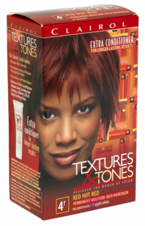Textures & Tones Permanent Hair Color Red Hot Red 4R