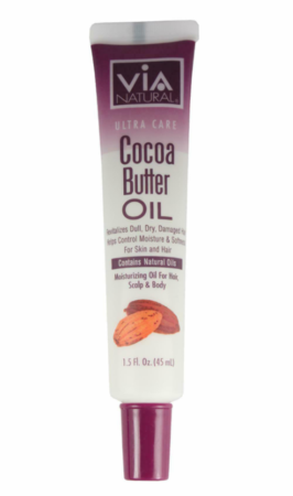 Via Natural Oil for Hair, Scalp & Body Treatment Cocoa Butter Oil 1.5 oz