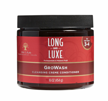 As I Am Long and Luxe Gro Wash Cleansing Creme Conditioner 16 oz - Melanin Beauty Suppliers